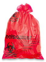 Biohazard bags with steam chemical indicator 80x100 cm